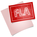 128x128px size png icon of adobe blueprint fla