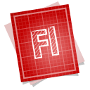 128x128px size png icon of adobe blueprint flash