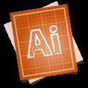 128x128px size png icon of adobe blueprint illustrator