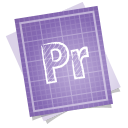 128x128px size png icon of adobe blueprint premiere