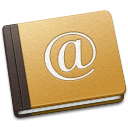128x128px size png icon of Address Book Oldschool