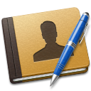 128x128px size png icon of Address Book blue