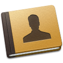 128x128px size png icon of Address Book