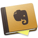 128x128px size png icon of Evernote Brown Alt