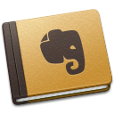 128x128px size png icon of Evernote Brown