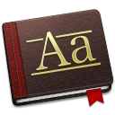 128x128px size png icon of Font Book Alt