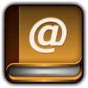 128x128px size png icon of Address Book Mac