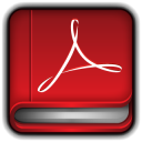 128x128px size png icon of Adobe PDF Reader Book