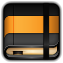 128x128px size png icon of Moleskine Orange Book