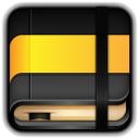 128x128px size png icon of Moleskine Yellow Book