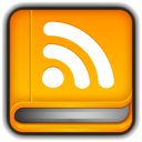 128x128px size png icon of RSS Reader Book