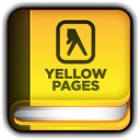 128x128px size png icon of Yellow Pages Book