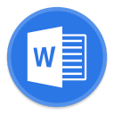 128x128px size png icon of Word 2
