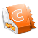 128x128px size png icon of Orange CandyBar