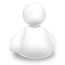 128x128px size png icon of Budy msn blanc