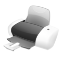 128x128px size png icon of Imprimante
