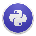 128x128px size png icon of Python