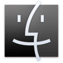 128x128px size png icon of Finder Black