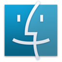 128x128px size png icon of Finder Blue