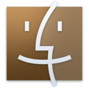 128x128px size png icon of Finder Brown
