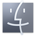 128x128px size png icon of Finder Desatured