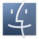 128x128px size png icon of Finder Graphite