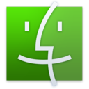 128x128px size png icon of Finder Green