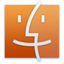 128x128px size png icon of Finder Orange