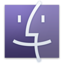 128x128px size png icon of Finder Purple