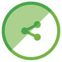 128x128px size png icon of Share