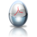 128x128px size png icon of adobe acrobat