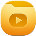 128x128px size png icon of folder videos