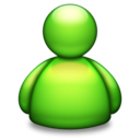 128x128px size png icon of Live Messenger green