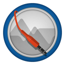 128x128px size png icon of audacity alt