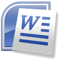 128x128px size png icon of Word