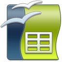 128x128px size png icon of OpenOffice Calc
