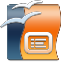 128x128px size png icon of OpenOffice Impress