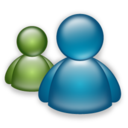 128x128px size png icon of Messenger Mac