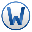 128x128px size png icon of Word Circle