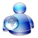 128x128px size png icon of Msn Buddy web