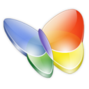 128x128px size png icon of Msn Butterfly