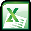 128x128px size png icon of Microsoft Office Excel