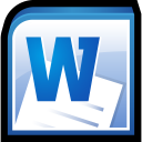 128x128px size png icon of Microsoft Office Word