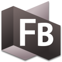 128x128px size png icon of Flash Builder 3