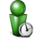 128x128px size png icon of Absent green