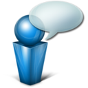 Bulle blue Icon
