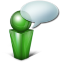 128x128px size png icon of Bulle green