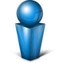 128x128px size png icon of Messenger blue