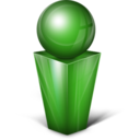 128x128px size png icon of Messenger green