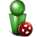 128x128px size png icon of Stop green